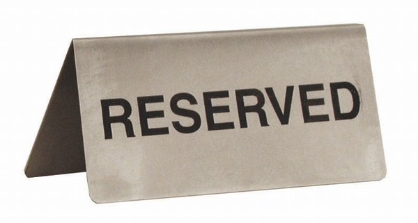 Stainless-Steel-Reserved-Table-Sign